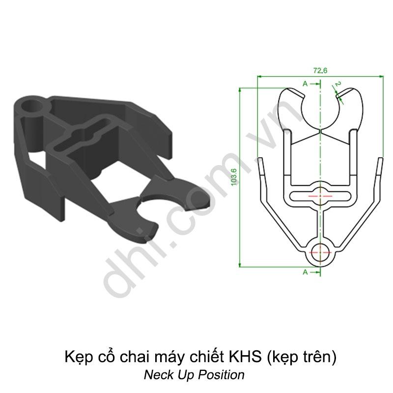 Kẹp cổ chai máy chiết KHS (kẹp trên))
