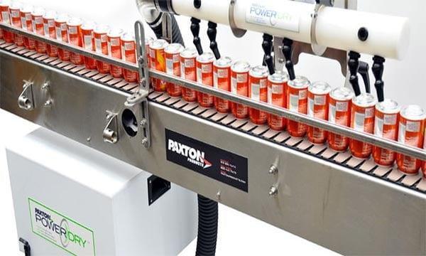 Hệ thống thổi khô paxton cho lon nước ngọt